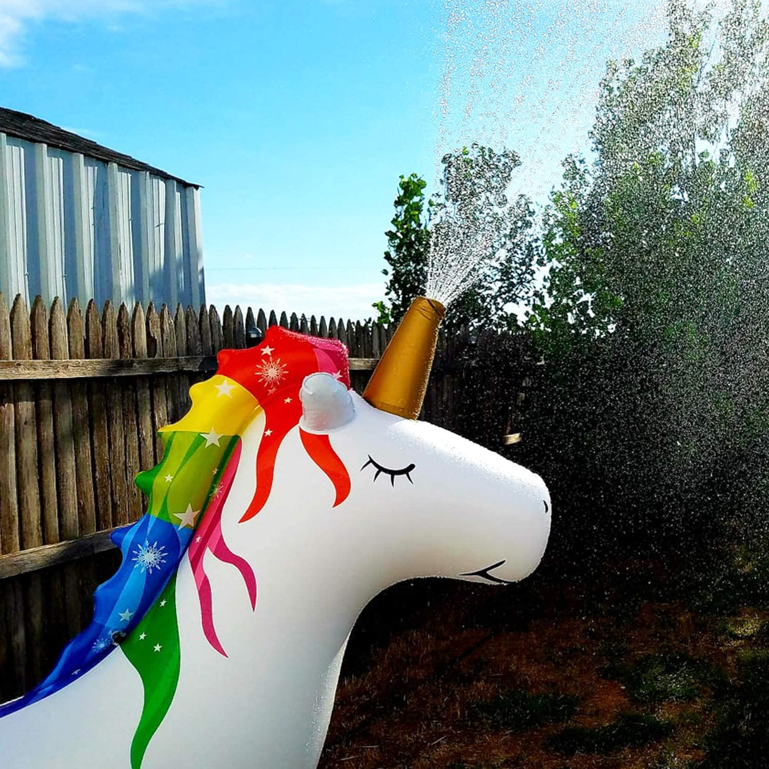 Amazon.com: XGEAR - Aspersores inflables de unicornio para ...
