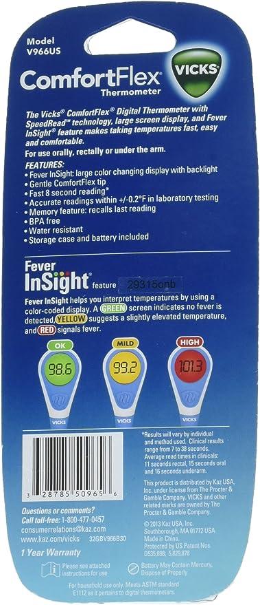 Amazon Com Vicks Comfortflex Digital Thermometer 1 Ea Health