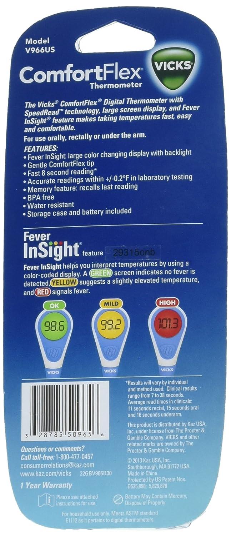 Amazon.com: Vicks ComfortFlex Digital Thermometer 1 ea: Health & Personal Care