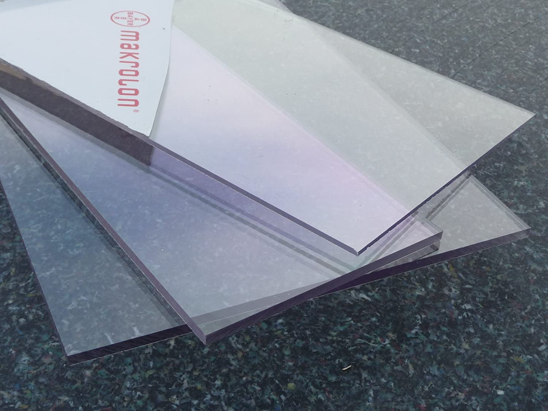 2-20 mm trasparente spessori 400 x 400 mm, 2 mm unampia selezione PC incolore alt -intech/® Policarbonato piastra UV varie dimensioni