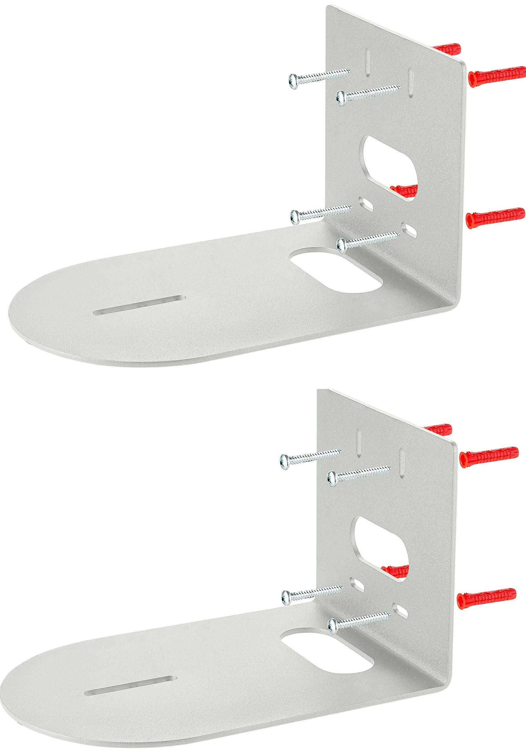 Set of 2 Small Universal Conference Camera Wall Mount fits Lifesize PTZOptics PTZ Camera Huddlecam HuddleCamHD - Cam Arm Bracket Replaces HCM-1-BK HCM-1-WH HCM-1 - Drywall Plastic Wood Masonry - Gray by Metral Universe