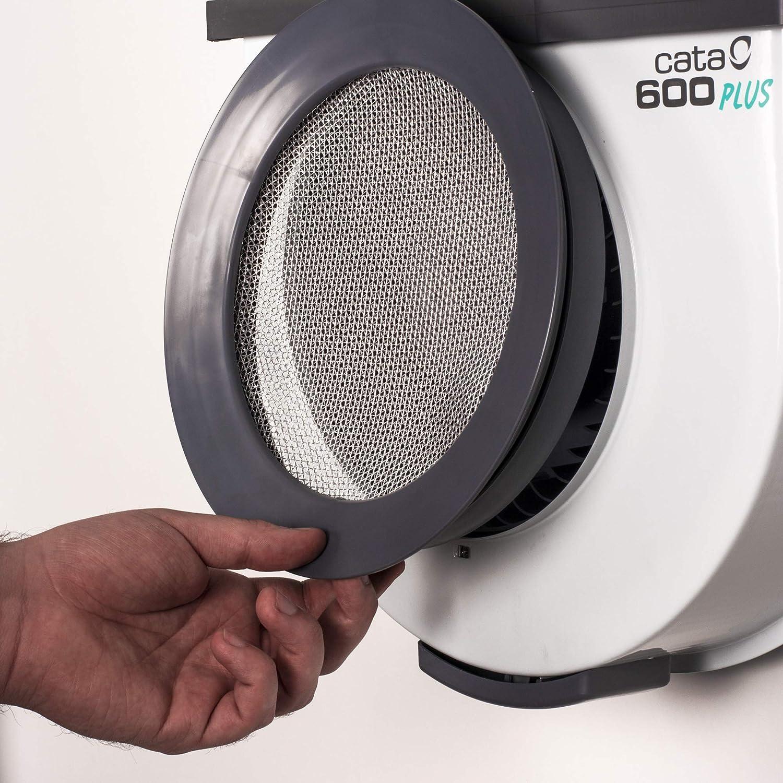 Cata 2 Vel Humos Modelo 600 Plus 2V Cocina silencioso | Ventilador Extractores de Aire | Color, 105 W, 52 Decibeles, Metal, De plástico, Blanco y gris: Amazon.es: Hogar