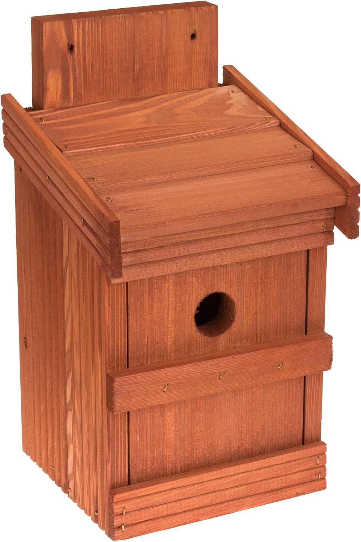 MAZUR International Nido para pájaros para Mayores, gorriones, pájaros, de Madera