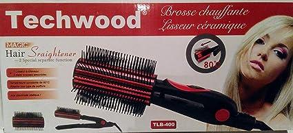 USpicy Cepillo Alisador Plancha Térmica iones negativos para el pelo con botón