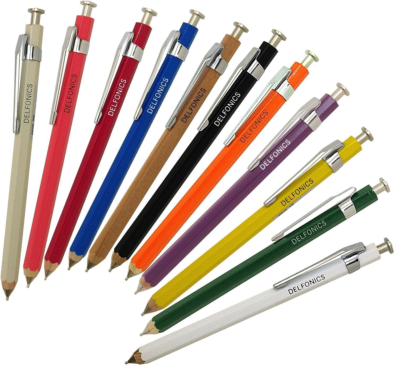 AP02 RD by Delfonics red Delfonics wooden 0.5mm mechanical pencil mini