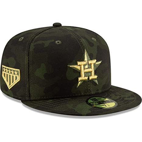 65ad4c6c New Era Houston Astros 2019 MLB Armed Forces Day On-Field 59FIFTY Fitted  Hat - Camo