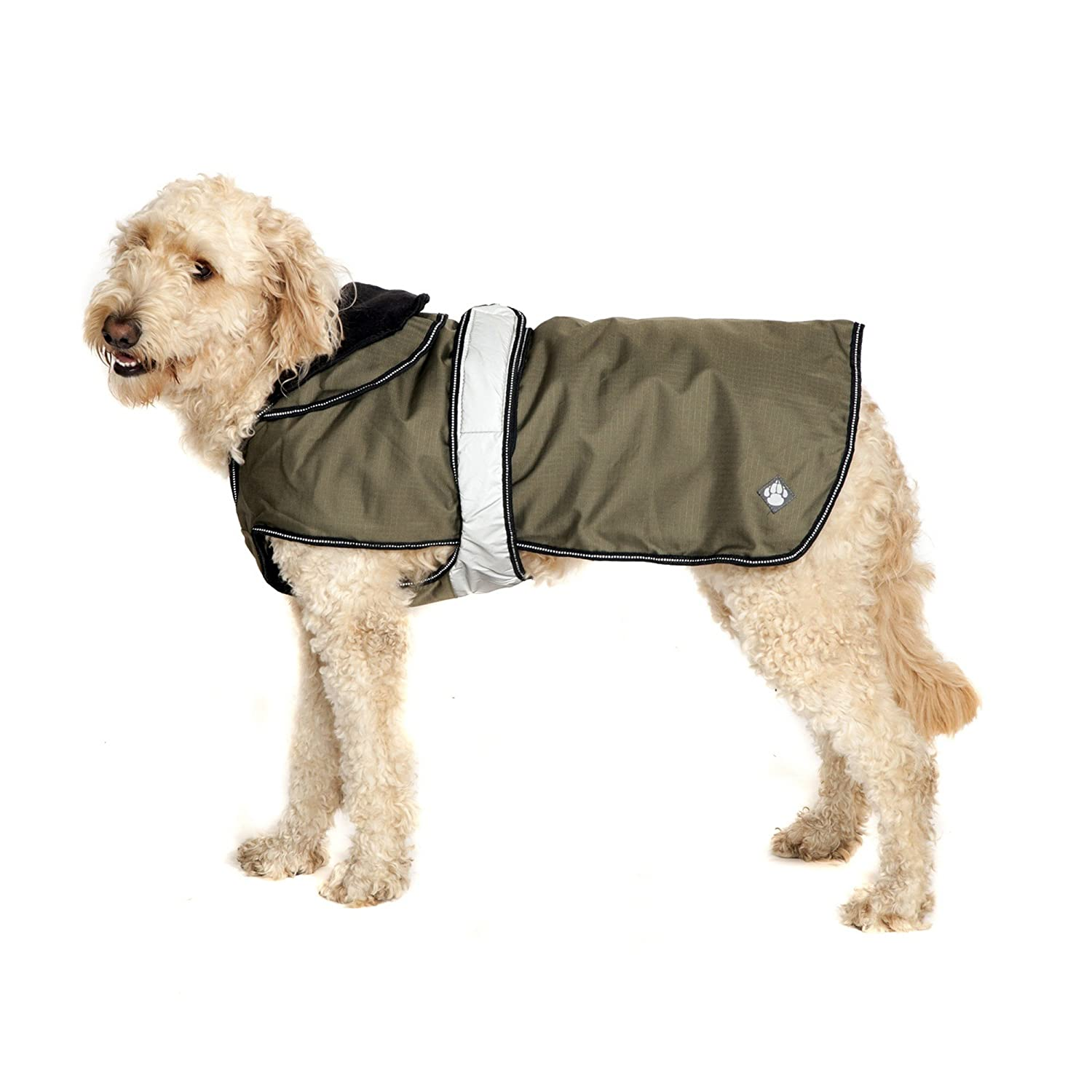 Khaki 29.5in Khaki 29.5in Danish Design Pet Products 2 In 1 Dog Coat (29.5in) (Khaki)