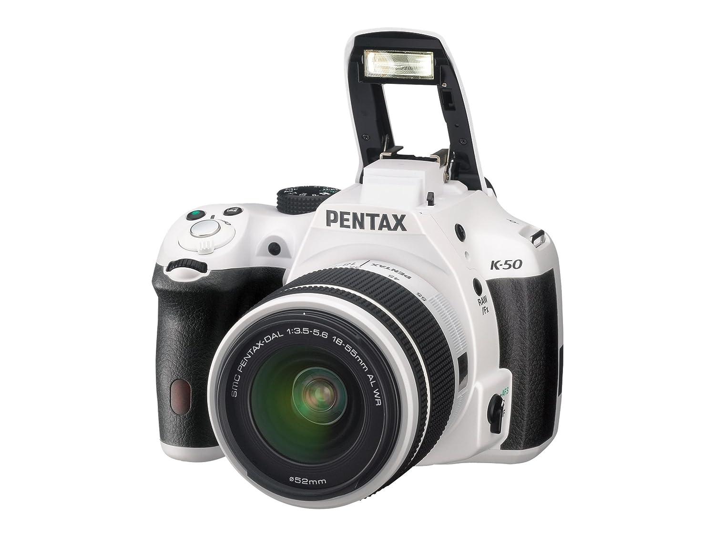 Pentax K-50 weiss Kit DAL 18-55mm WR + DAL 50-200mm WR: Amazon.es ...