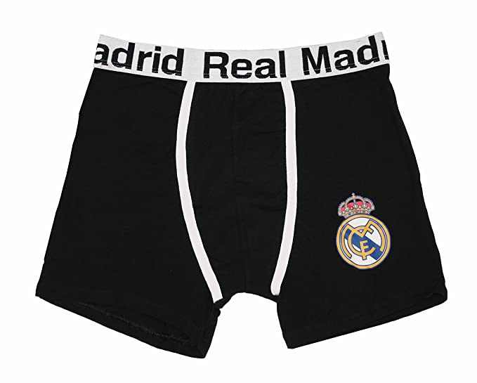 REAL MADRID - Boxer, Color Negro, Talla L