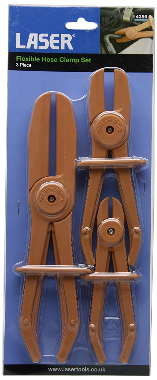 Laser 4386 Set di Pinze per Tubi Flessibili Tool Connection Ltd