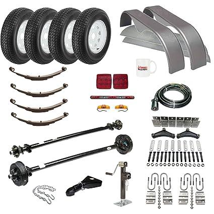 amazon com: tandem axle trailer parts kit - (95