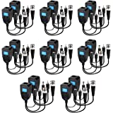 Passive Video Balun 8 Pairs Passive Video Power Balun Audio Connector 960P/1080P/2MP BNC to RJ45 Network Transceiver…