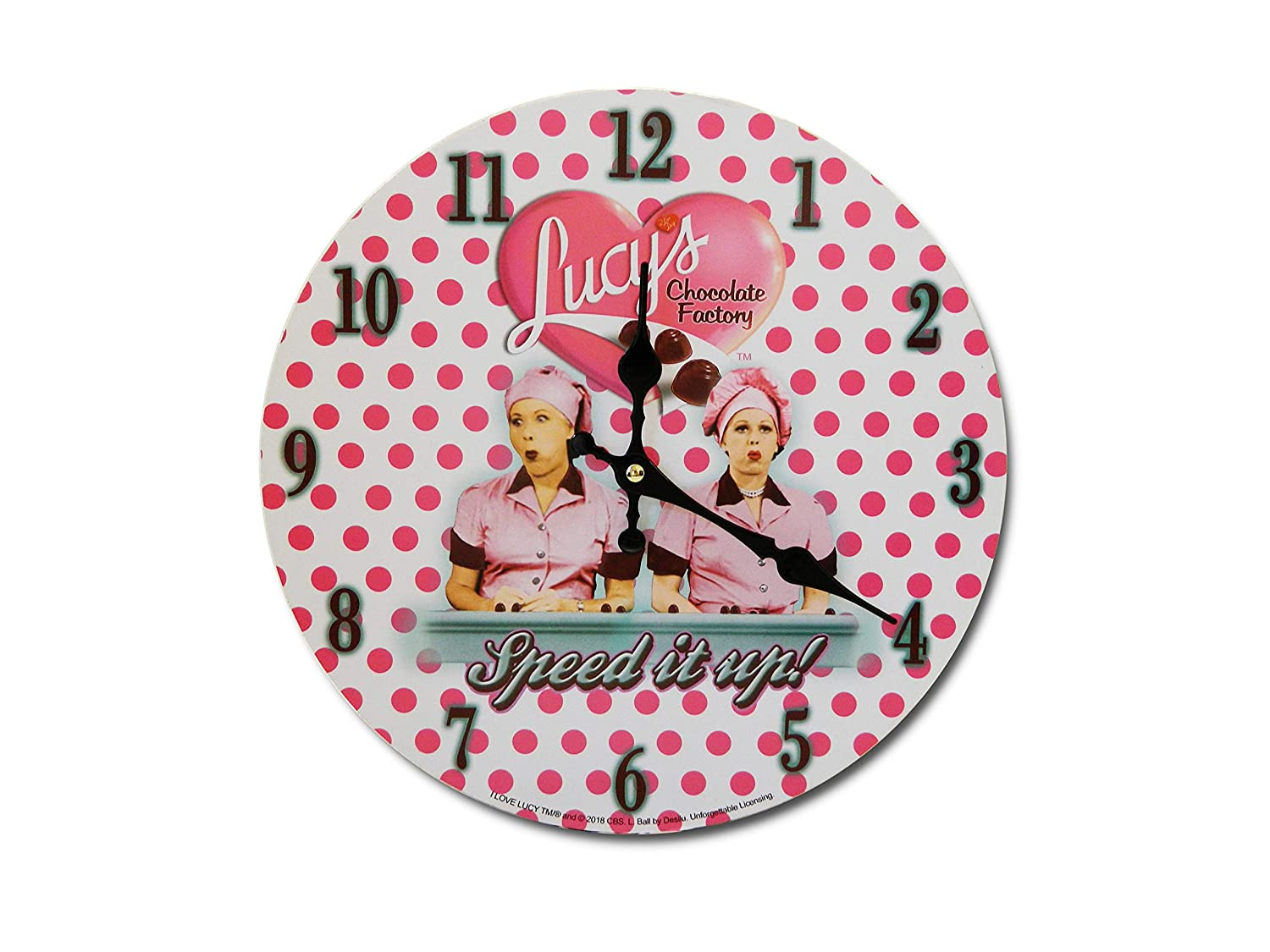 Midsouth Products I Love Lucy Clock - Chocolate Factory
