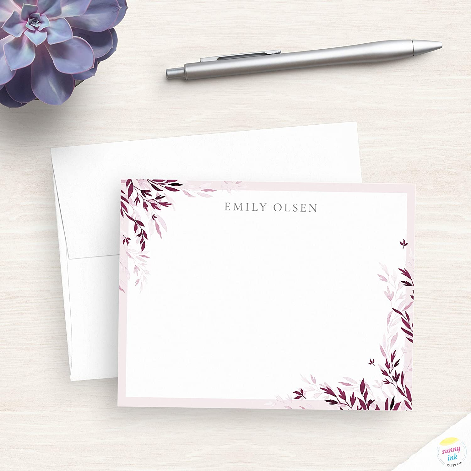 Note Cards Personalized Gift Flat Note Cards Pineapple Note Cards Stationary Personalized Note Cards Pineapple Cards 5x7 Note Cards