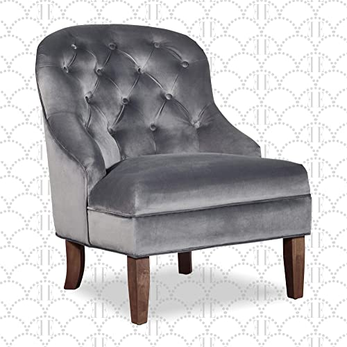 Elle Decor Vera Wingback Upholstered Tufted Armchair
