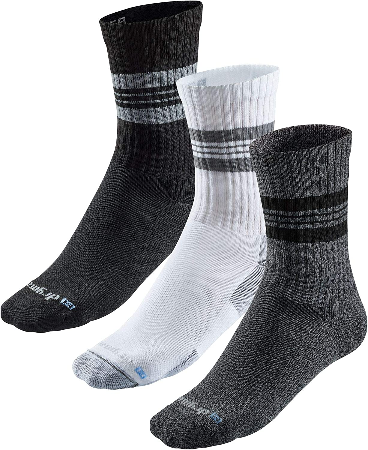 Drymax R-Gear Crew Socks for Men and Women (3 Pack) | Super Breathable Keep Feet Dry, Comfy and Blister-Free