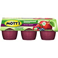 Mott's Unsweetened Mixed Berry Applesauce, 3.9 Ounce, Pack of 6