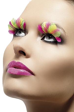 7b8220d057f Smiffys Feather Eyelashes - Multi-Coloured: Smiffys: Amazon.co.uk ...