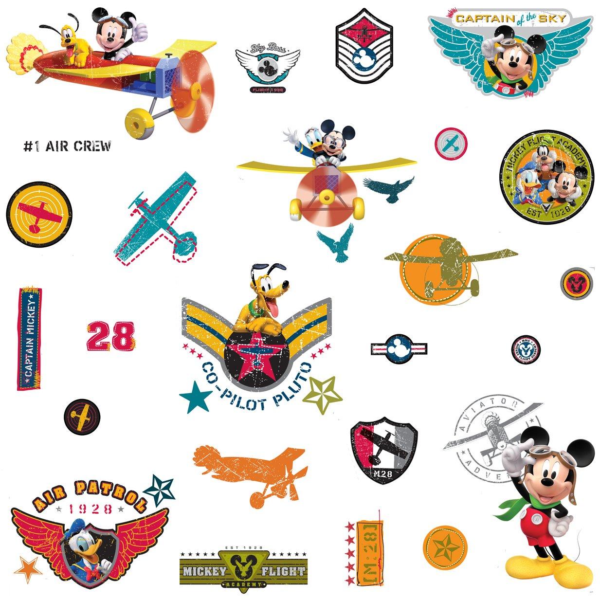 Roommates Rmk1674Scs Mickey U0026 Friends   Clubhouse Pilot Peel U0026 Stick Wall  Decals   Decorative Wall Appliques   Amazon.com