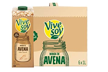 Vivesoy Bebida de Avena - Pack de 6 x 1000 ml - Total: 6000 ml: Amazon.es: Amazon Pantry