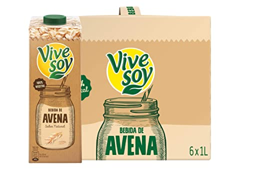 Vivesoy Bebida de Avena - Pack de 6 x 1000 ml - Total: 6000 ml: Amazon.es: Amazon Pantry