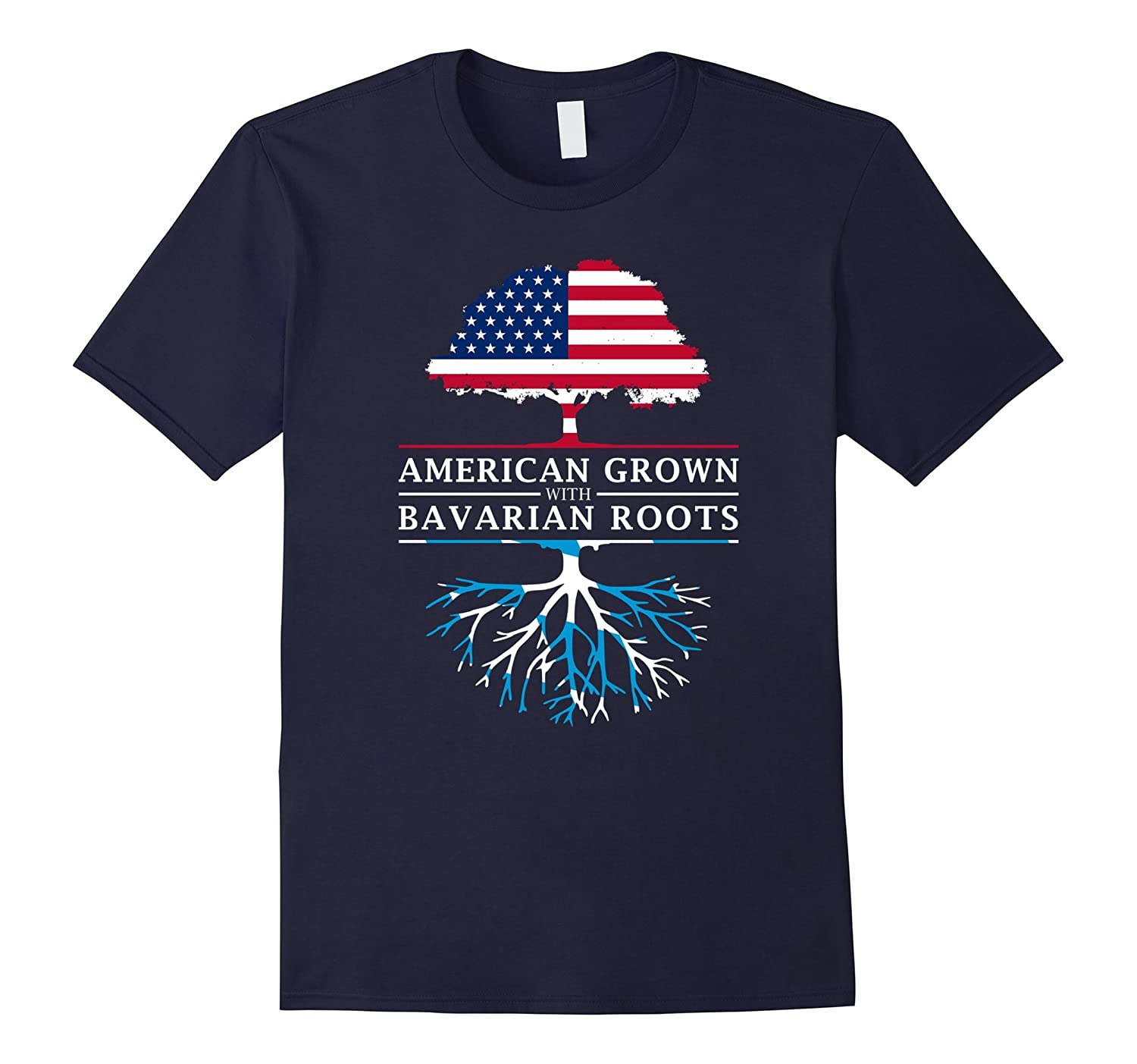 American Grown with Bavarian Roots T-Shirt - Bavaria Shirt-CL