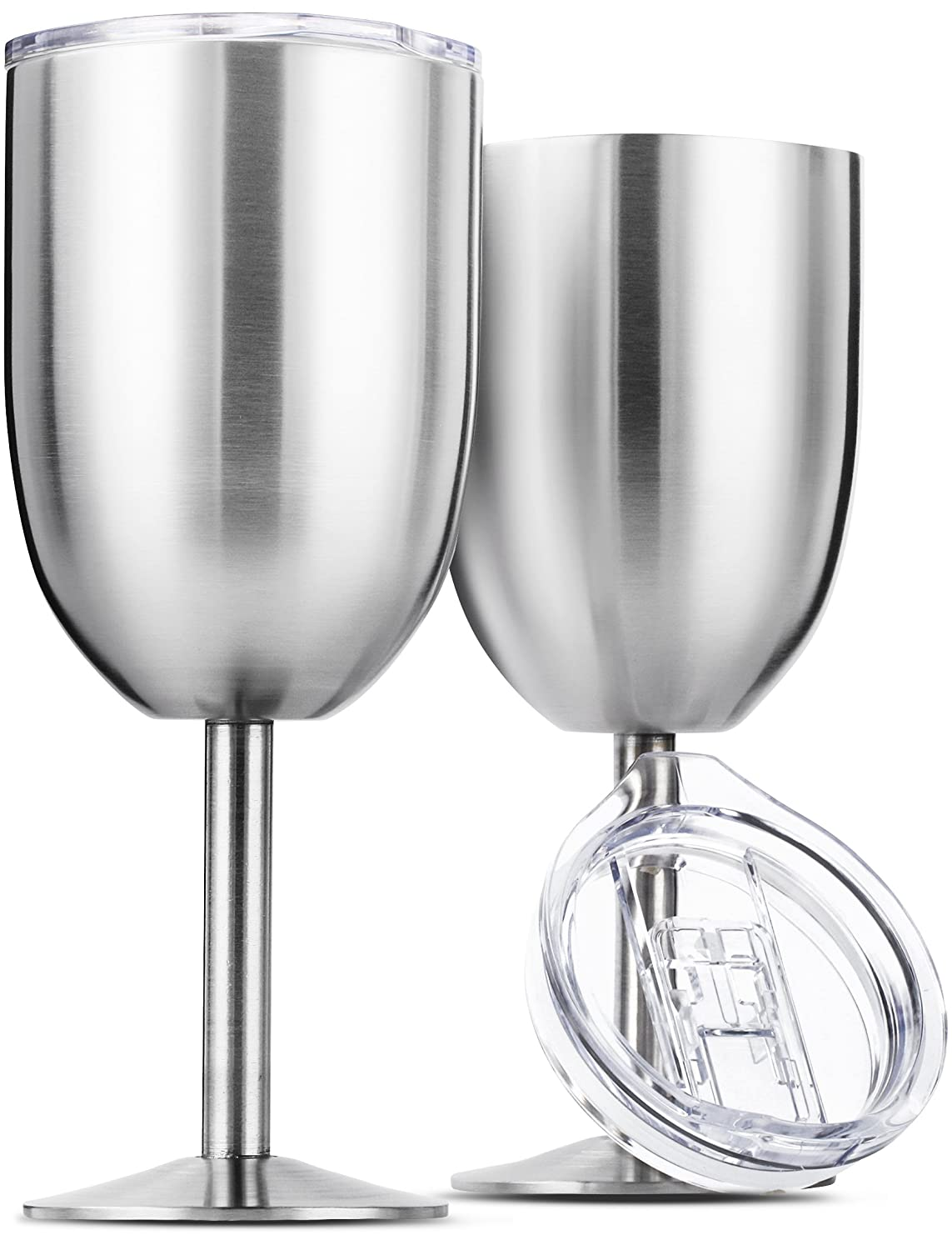 Amazon Com Stainless Steel Wine Glasses Double Wall Insulated With