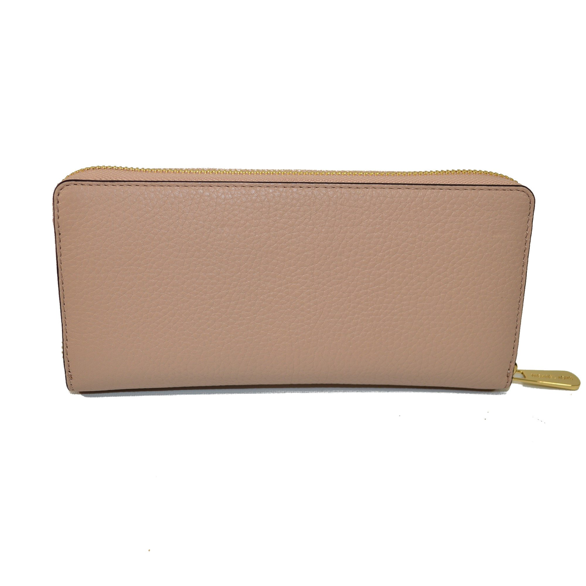 Michael Kors Jet Set Travel Zip Around Leather Clutch Blush by Michael Kors (Image #3)