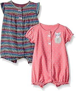 da452e3e224 Amazon.com  Carter s Baby Girls  Multi Striped Snap up Cotton Romper ...