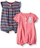 Carter's Baby Girls' 2-Pack Romper, Heart/Mouse