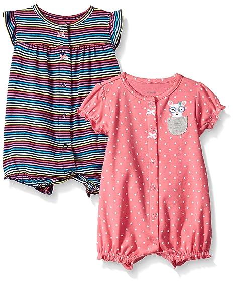 63e17e3e0 Carter's enterito para niñas bebés, Paquete de 2, Heart/Mouse Dot, 3