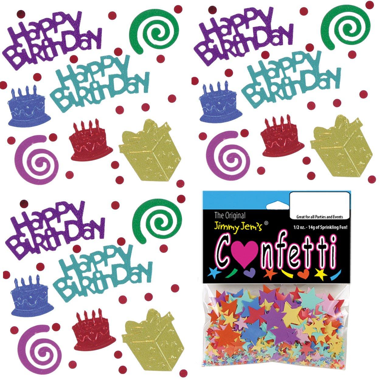 Confetti Mix - Birthday Blast - 4 Half Oz Bags (2 oz) (9224)