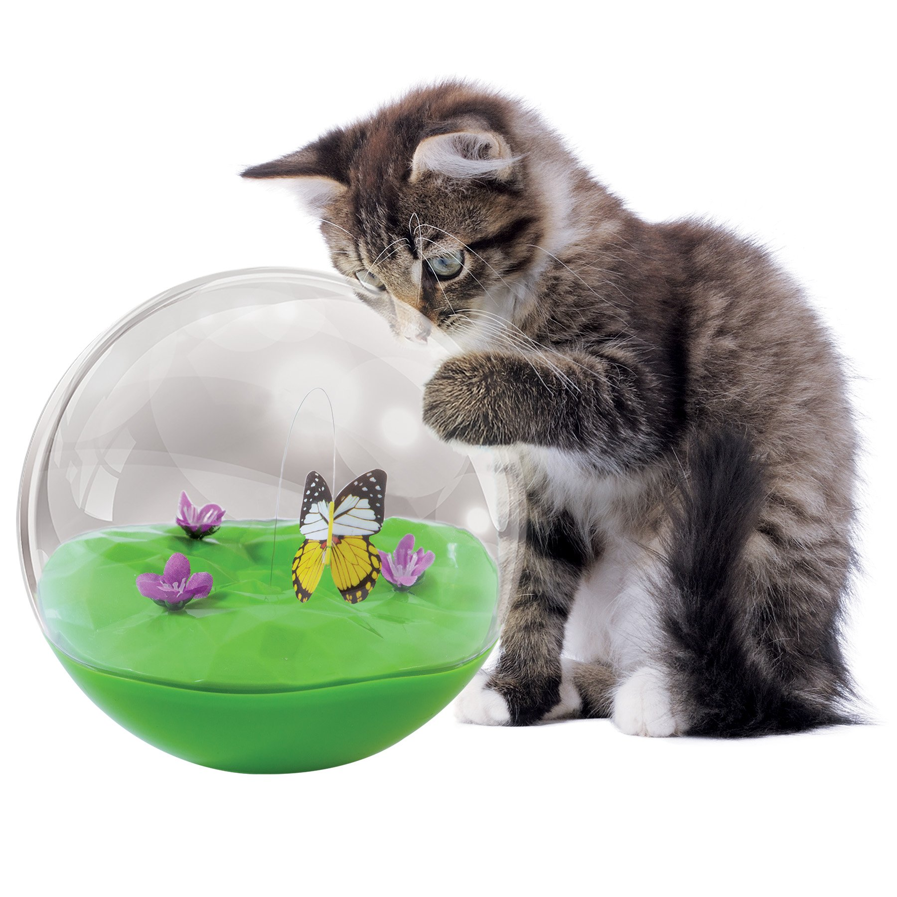Petmate Jackson Galaxy Butterfly in a Ball Cat Toy