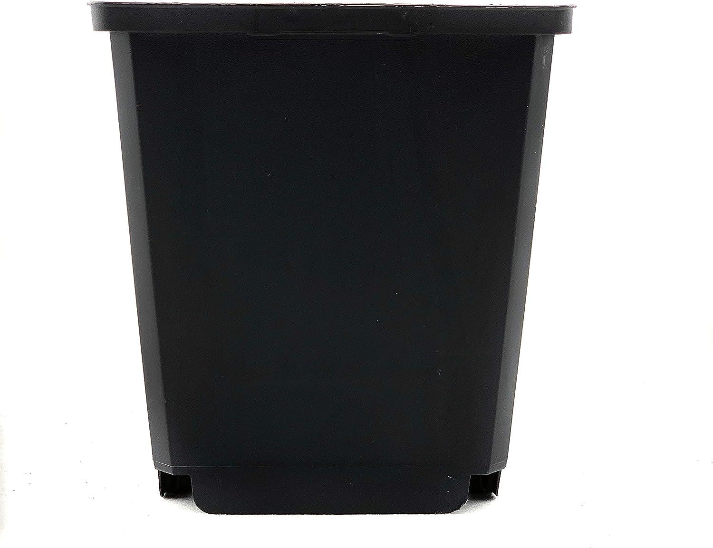 Bato Pot de fleurs et soucoupe carr/és en plastique PP de qualit/é sup/érieure id/éal pour lint/érieur et lext/érieur bac /à fleurs pour plantes moyennes et grandes Untersetzer 0,5-3,5 L Noir