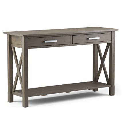 Delicieux Simpli Home Kitchener Solid Wood Console Sofa Table, Farmhouse Grey