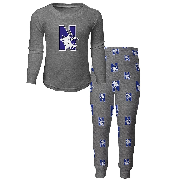NCAA by Outerstuff NCAA Northwestern Wildcats Kids Long Sleeve Tee /& Pant Sleep Set Kids Medium Heather Grey 5-6