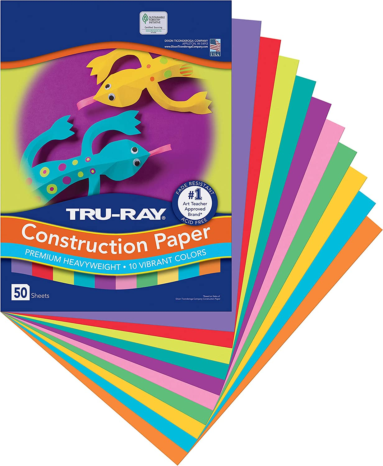5 Packs 9 x 12 50 Sheets Per Pack Royal Blue Pacon Tru-Ray Construction Paper