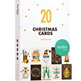 20 Xmas Cards Series 1 by Kyobo Creations |10 Designs Boxed with EnvelopesI Large Packs