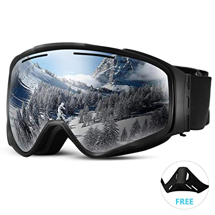 248c4d2fc65 Fvino Ski Snowboard Snow Goggles Magnet Dual Layers Lens Detachable Design  Anti-Fog UV400 Protection