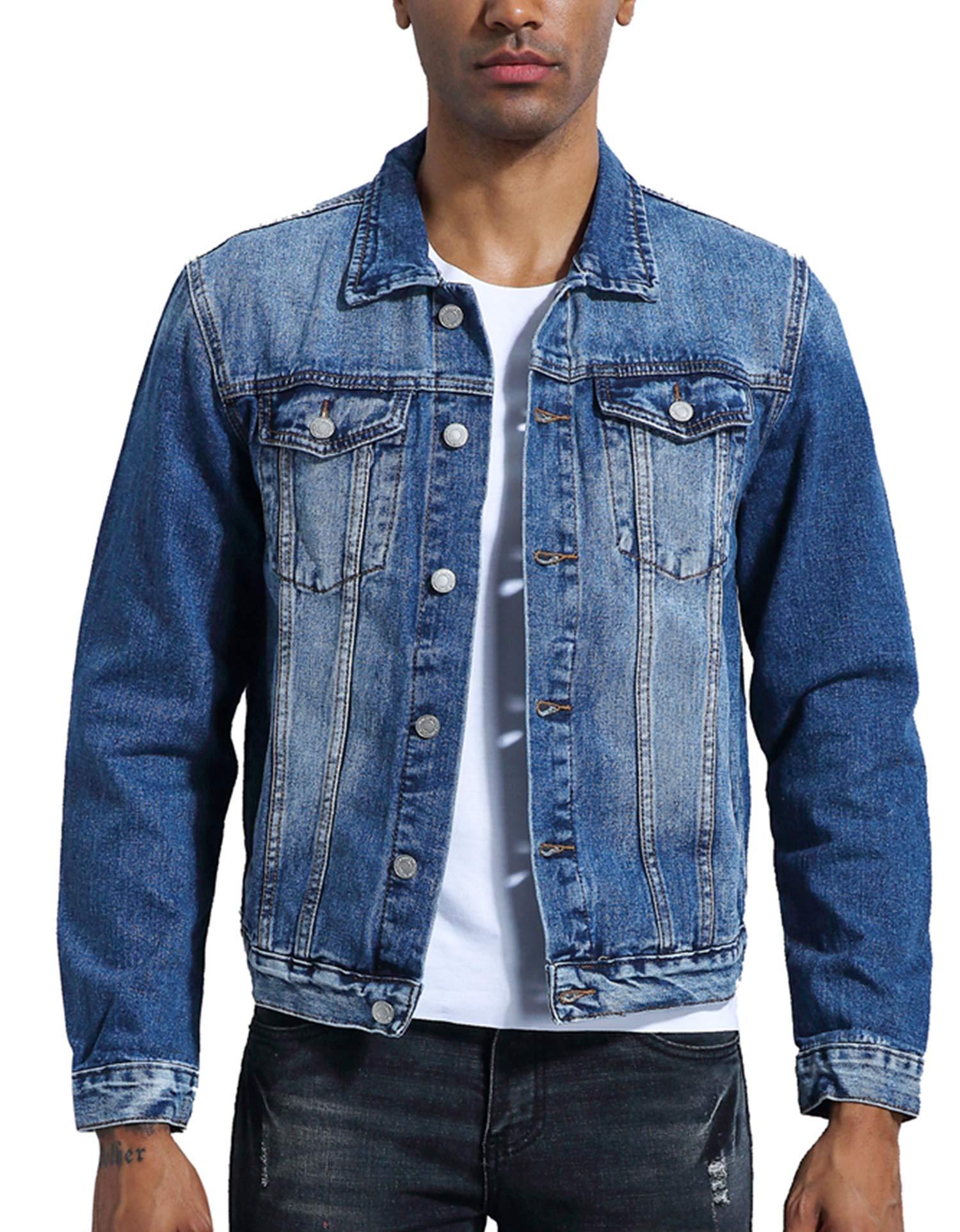 KOGO Men's Denim Jacket (M, Vintage Indigo) by KOGO