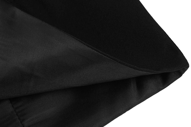 Coofandy Men's V-neck Sleeveless Slim Fit Jacket Casual Suit Vests, Type-01 Black, Large