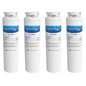Waterdrop Refrigerator Water Filter Replacement for GE MSWF Filter, 4 Pack