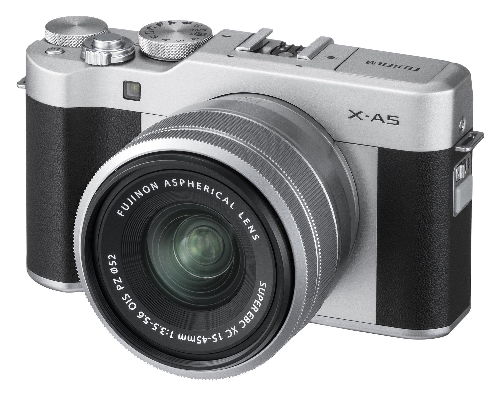 Fujifilm X-A5 Mirrorless Digital Camera w/XC15-45mmF3.5-5.6 OIS PZ Lens - Silver by Fujifilm (Image #2)