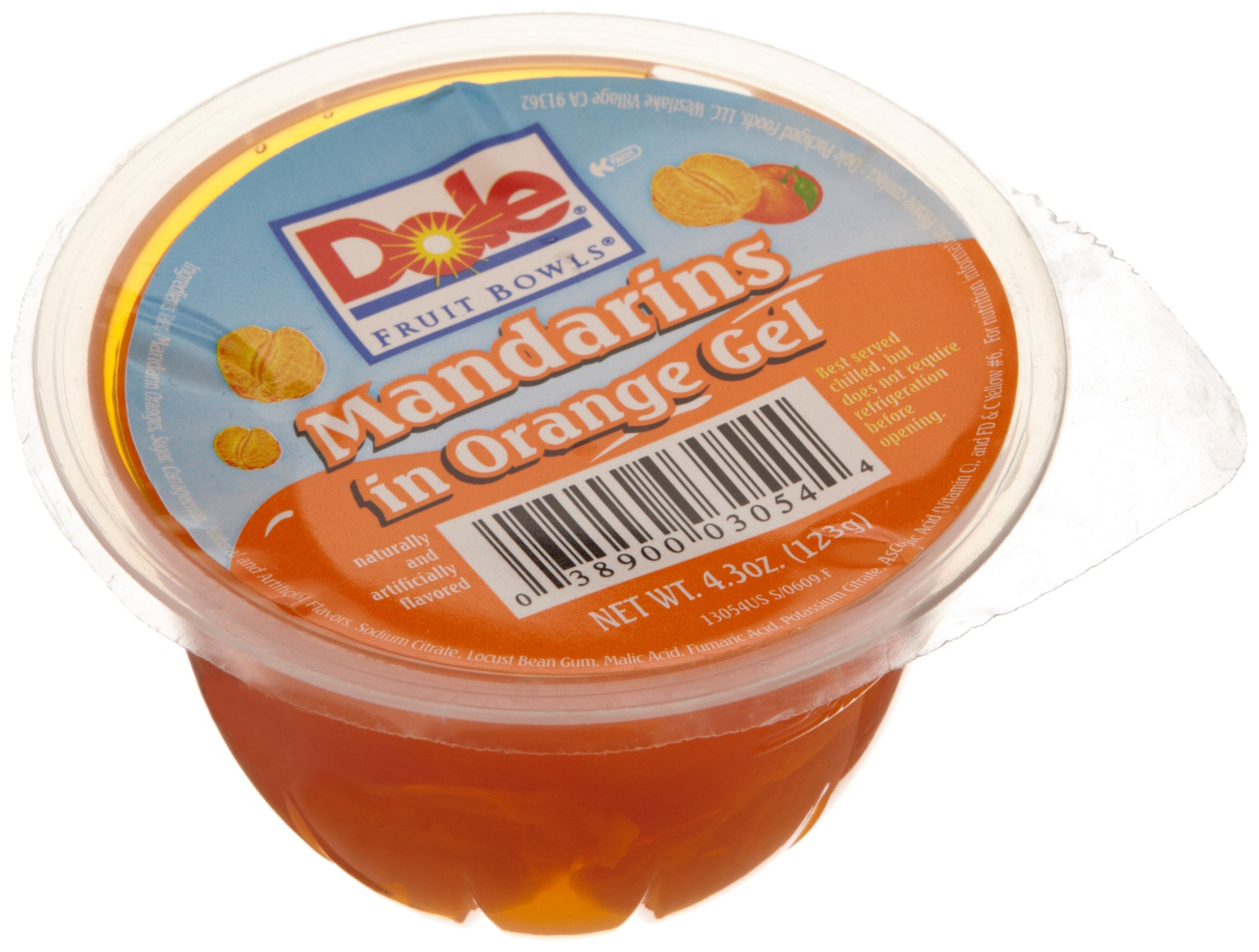 Dole Mandarin in Orange Gel, 4.3-Ounce Cups (Pack of 36) by Dole (Image #1)