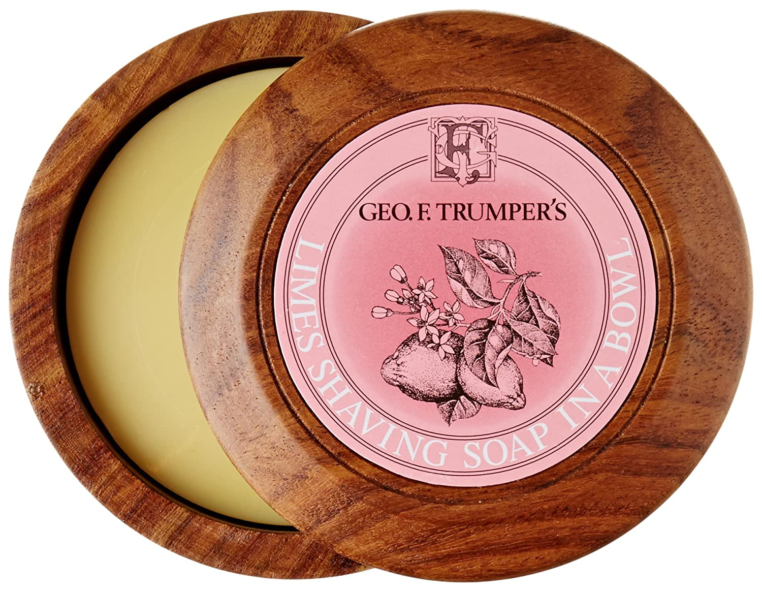 Geo F Trumper Wooden Shave Bowl - Extract of Limes (Normal) Geo F. Trumper W090389 Cosmetics and Fragrances male grooming