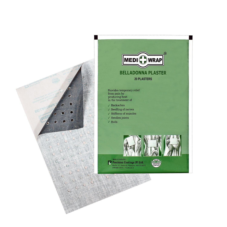Mediwrap Belladonna Plaster (Set of 10 Plasters) - Herbal Pain Relief Patch