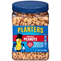 PLANTERS Salted Cocktail Peanuts Resealable Jar 35oz