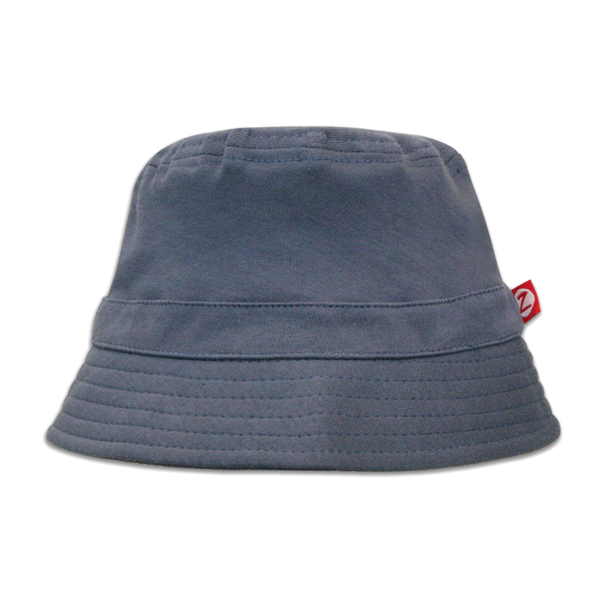 Zutano Baby & Toddler Bucket Sun Hat, UPF 30+ Protection, 4T, Denim Navy