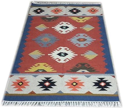 Srj Handmade Flat Weave Kilim Rug - Dhurrie 4 �6 ft.