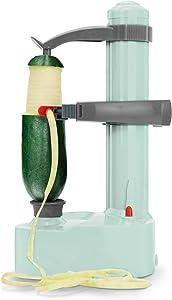 Dash DAP001AQ Rapid Electric Potato Peeler Tool + Fruit Skinner with BPA Free Plastic, Auto Shut Off Function, 2 Replacement Blades, Paring Utensil, Recipe Book, Aqua